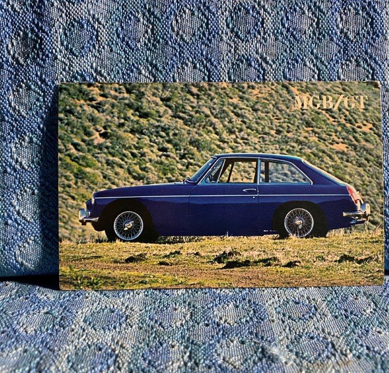 MG MGB/GT Original NOS Dealer Sales Postcard