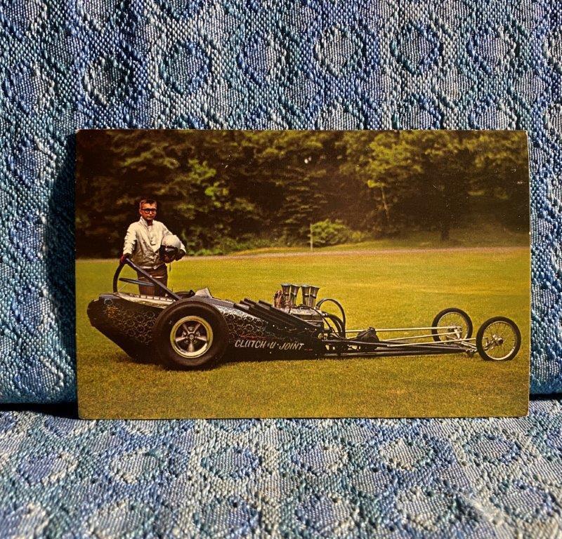 Vintage Strange Stuff Dragster Postcard Clutch & U-Joint Service Minneapolis MN