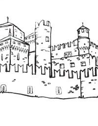 Disegno da colorare: il castello della Valle D'Aosta ...