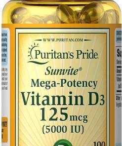 فيتامين د 3 Vitamin D3 5000 iu 125 meg 100 softgel