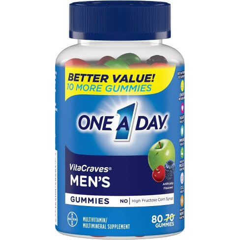 One A Day Men's vitacraves men's multi 80 gummies