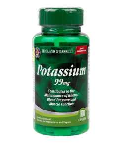 Holland & Barrett Potassium 100 Caplets 99 mg