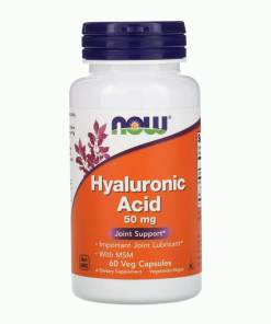 Now Hyaluronic Acid 50 mg 60 Capsules