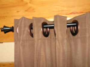 Easy To Make Curtains With Big Snap In Rings For Hanging