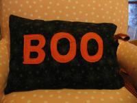 Boo pillow for fun Halloween decor