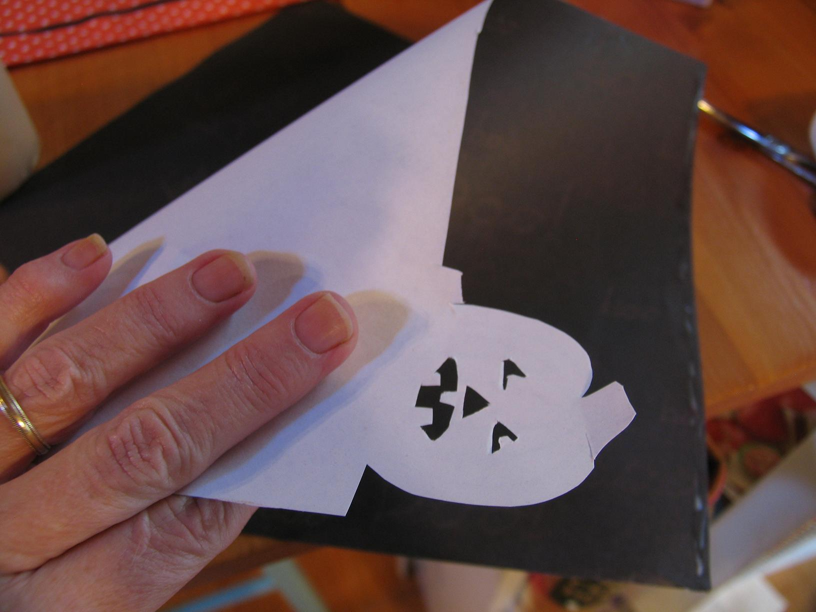 Halloween Candle Cover Made With Scrapbook Paper