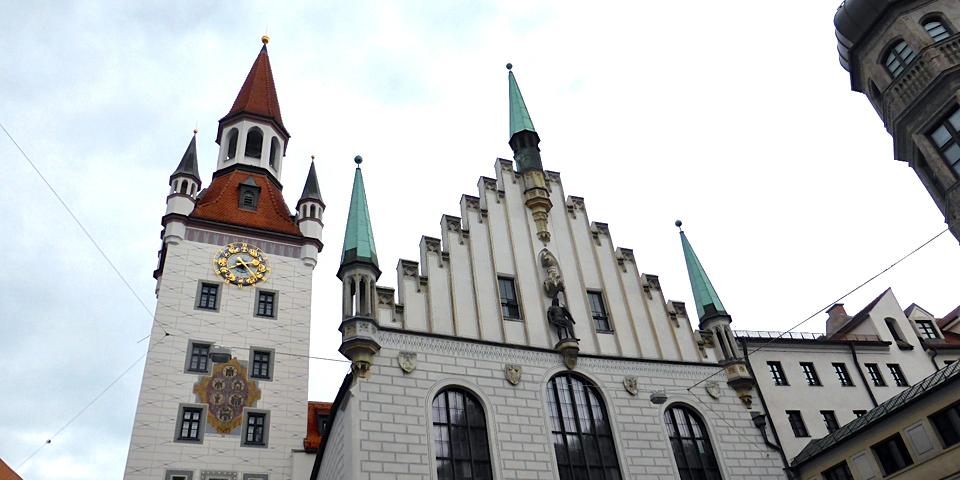 The glockenspiel at Marienplatz Munich Germany  Notable