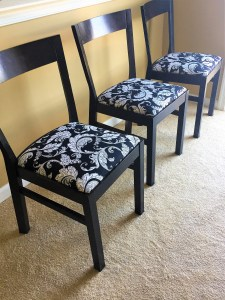 Image of remaining 3 finished chairs