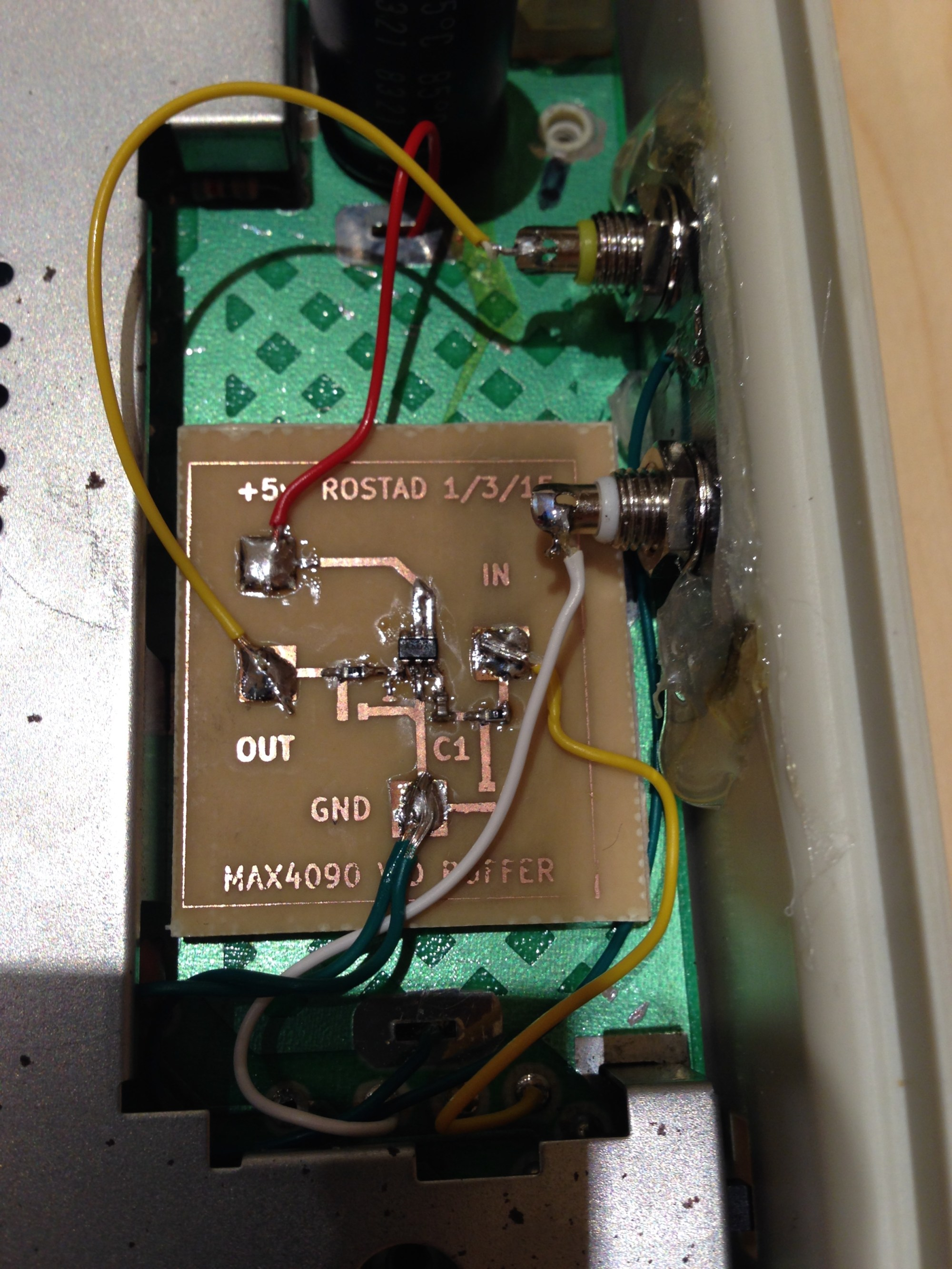hight resolution of  wiring diagram for here s the breakout board installed in the aquarius fits where the rf modulator was