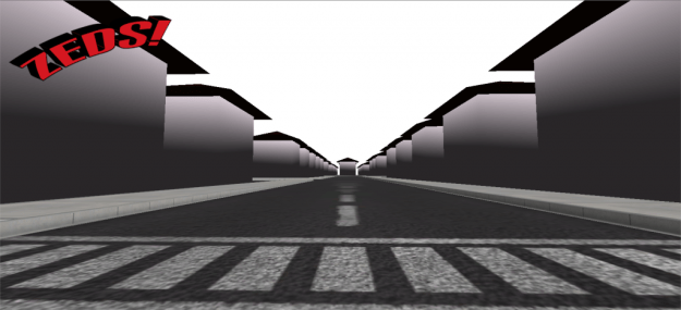 On the ground view from one of the cities. this is after I added placeholder buildings.