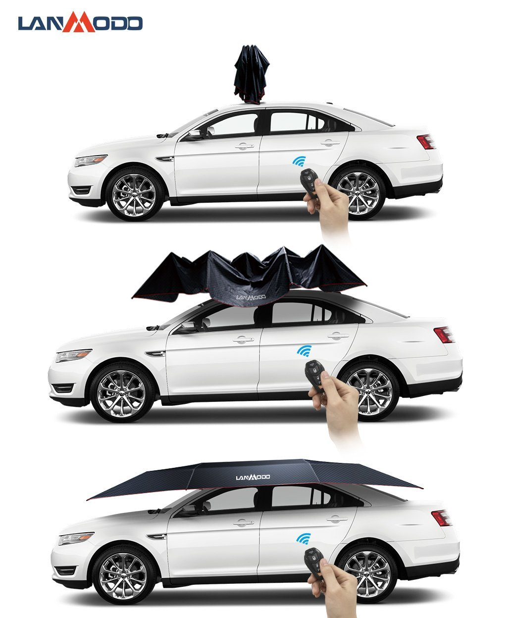 Lanmodo Automatic Car Umbrella Protects Against Sun Weather And More Not Any Gadgets