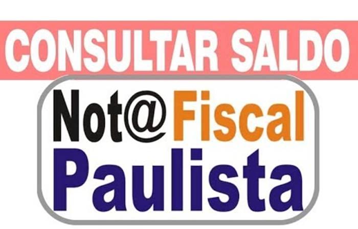 consultar nota fiscal paulista saldo