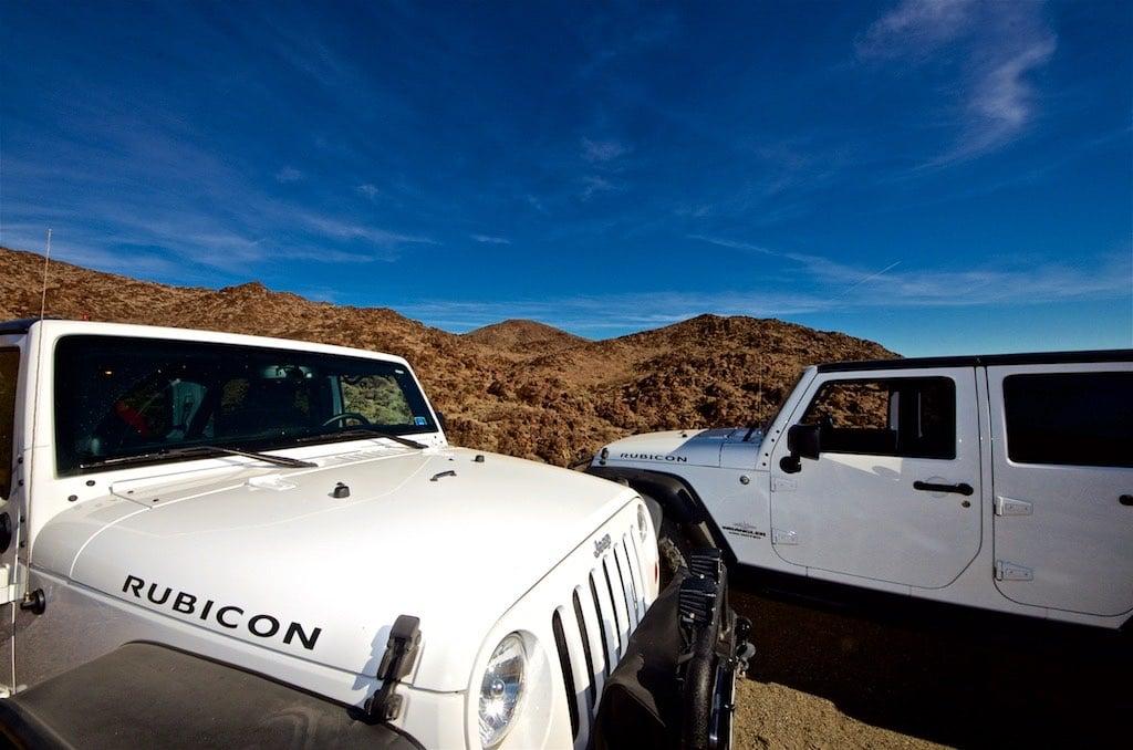 Two Rubicon Jeeps