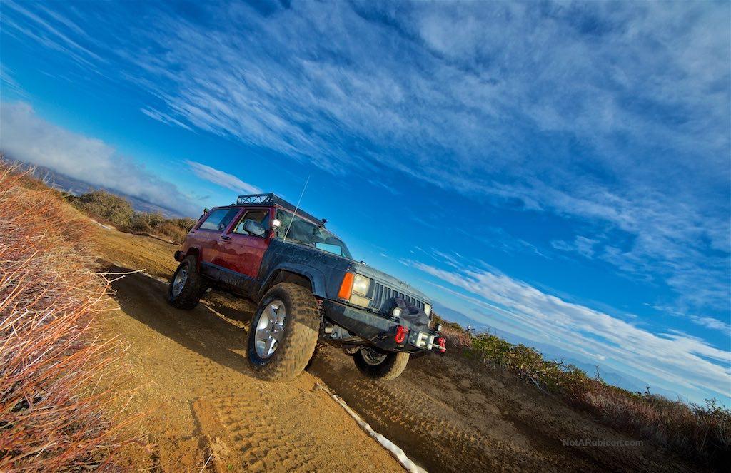 Jeep Cherokee on the trail at Cleghorn Ridge