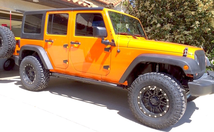 The Notarubicon Jeep in the driveway