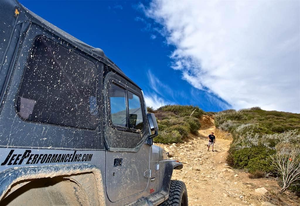 Jeep TJ on Cleghorn Off-road trail
