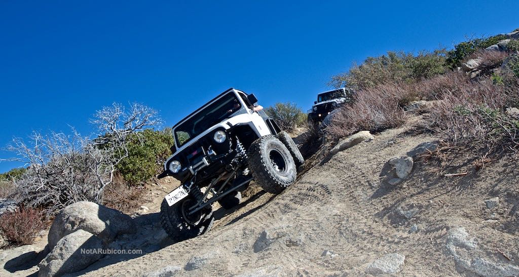 Jeep flexing on Cleghorn