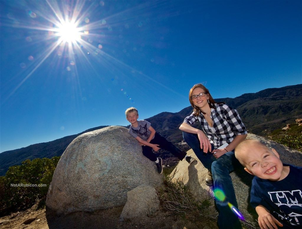 Kids at the top of Cleghorn