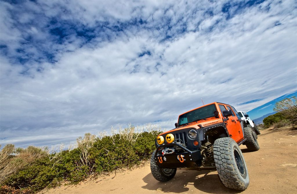 NotARubicon Jeep at Cleghorn off-road trail