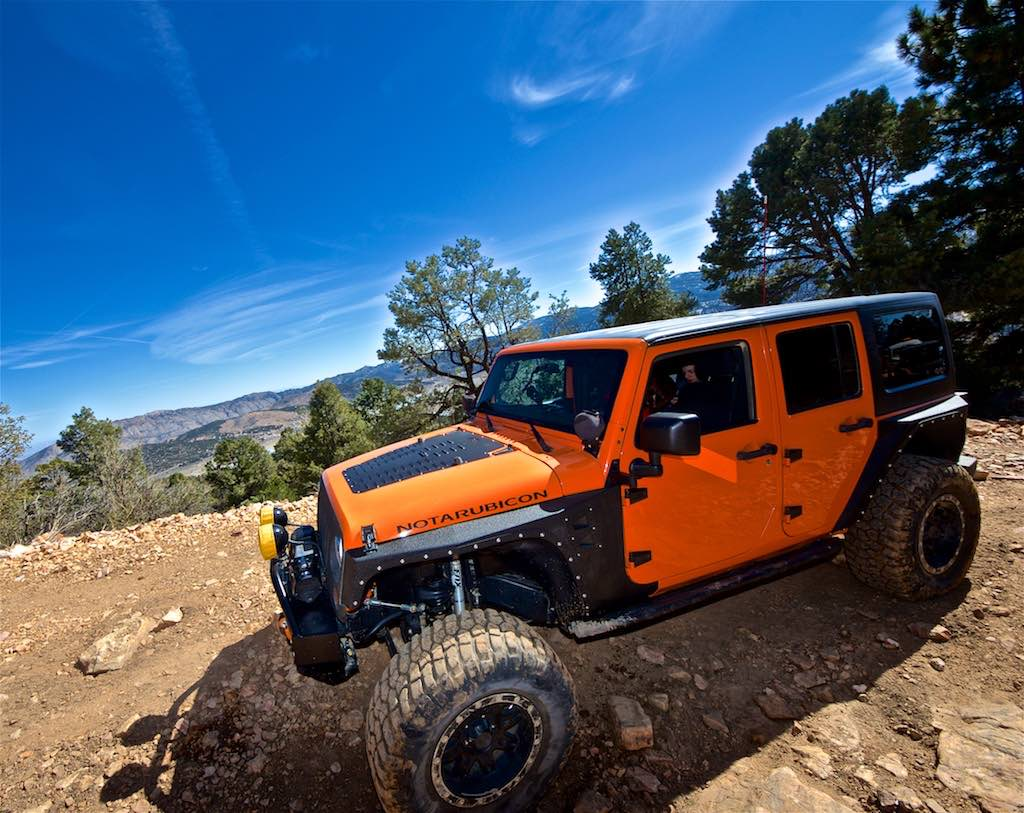 The NotARubicon Jeep in Big Bear at Gold Mountain