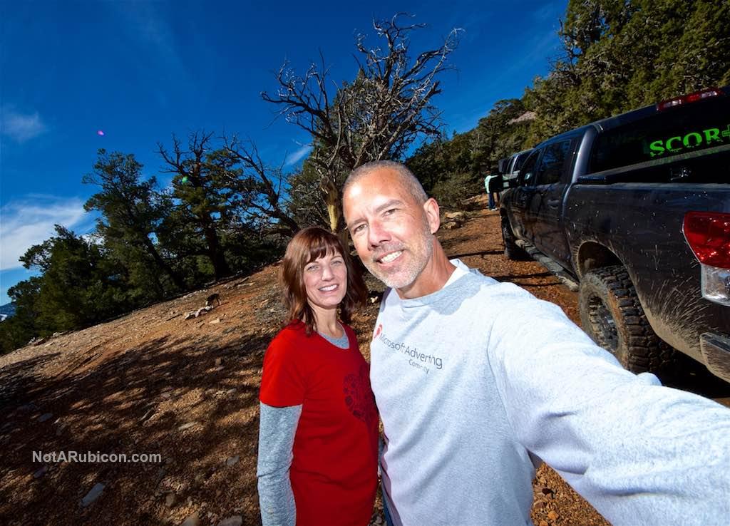 Randy Brown and Christina Brown selfie
