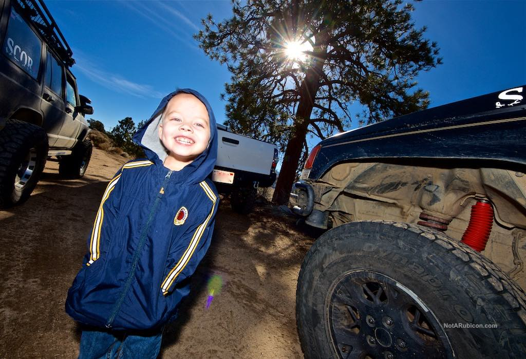 Small boy having fun on Gold Mountain