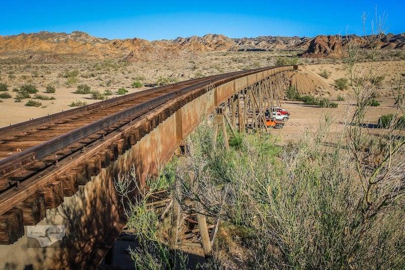 Photo of the Eagle Mountain railroad trestle