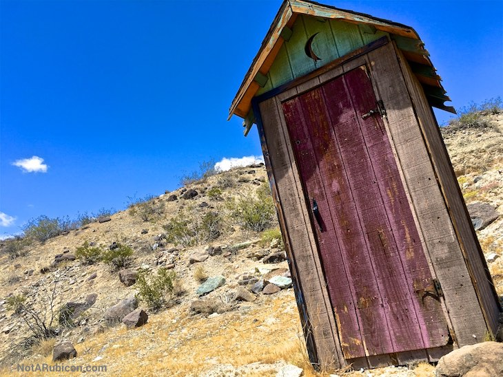 Old outhouse near Bickel Camp