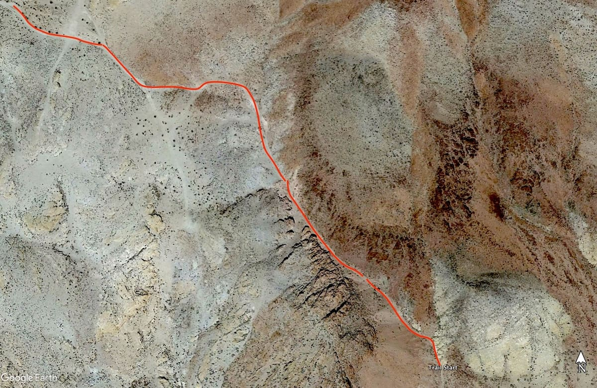 """Map of the newly dubbed """"Notarubicon Trail"""" near Calico"""