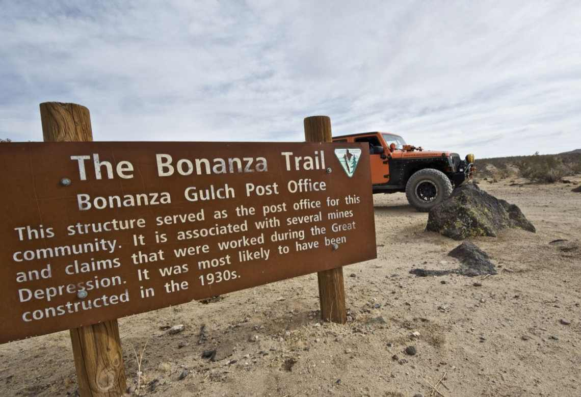 Sign in front of the Bonanza Gulch Post Office Building