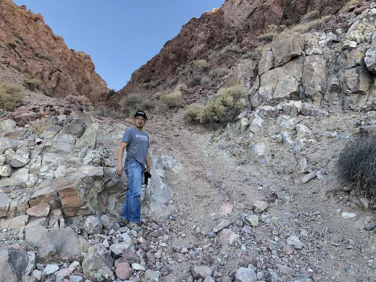 Start of the Notarubicon 4x4 trail near Calico