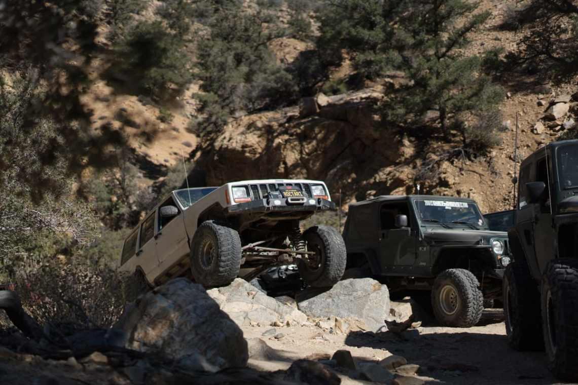 Jeep Cherokee on the rocks