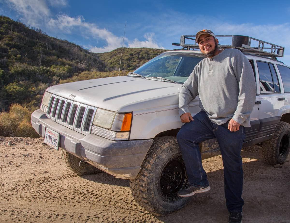 Jeep Cherokee on Cleghorn