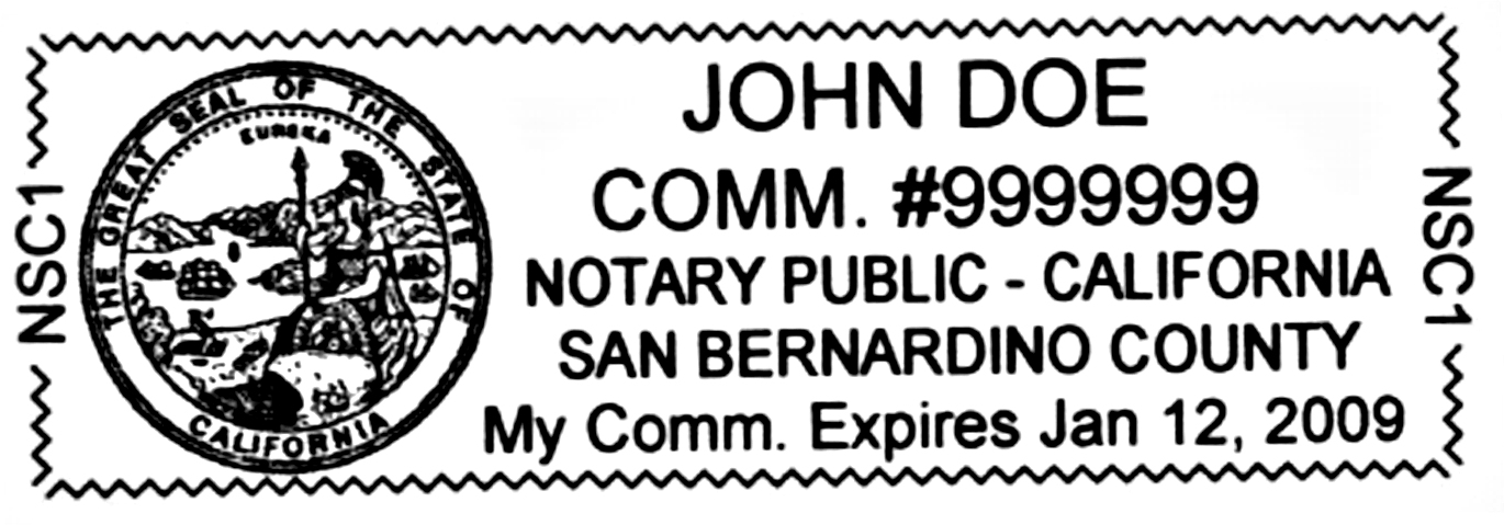 California Notary Stamp
