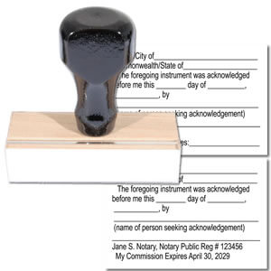 Notary Acknowledgment Rubber stamp