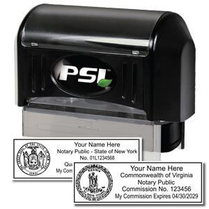 PSI PRE-INKED RECTANGLE NOTARY STAMP