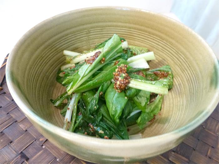 小松菜で野菜補給