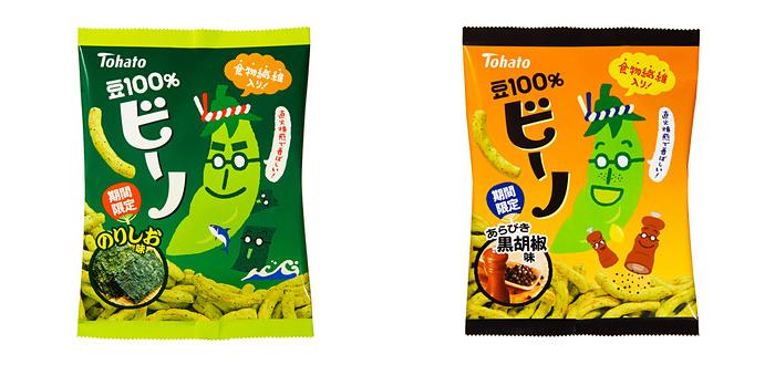 東ハト、「ビーノ・のりしお味」「ビーノ・あらびき黒胡椒味」期間限定新発売