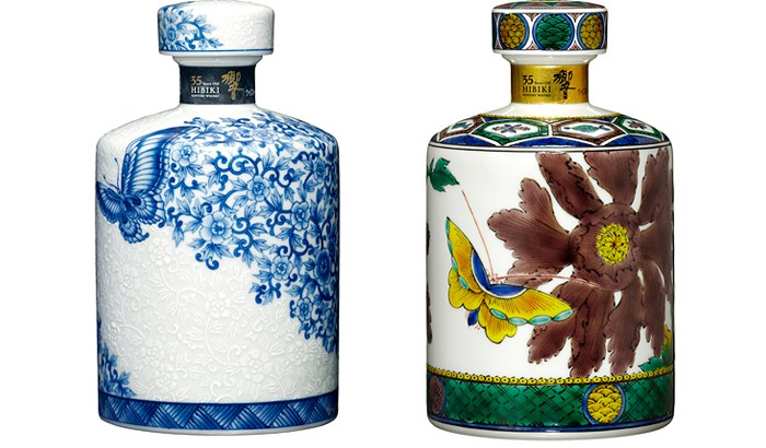 牡丹と蝶が美しい、サントリースピリッツの「響35年〈有田焼〉」「同〈九谷焼〉」2016年スペシャルボトル数量限定で新発売