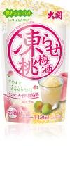 美容や健康、恋愛に効果!「凍らせ桃梅酒150mlパウチ詰」新発売