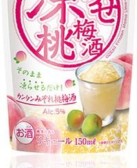 凍らせ桃梅酒150mlパウチ詰