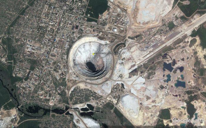 Imagen de una de las excavaciones más grandes del mundo
