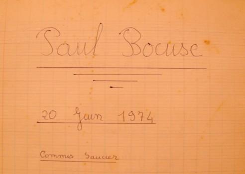 Caderno de anotações de Claude Troisgos
