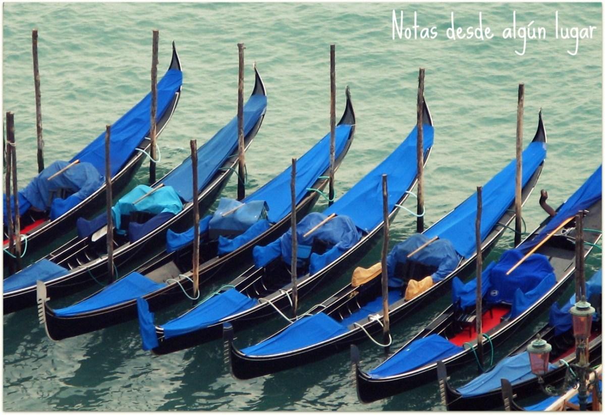 Notas sobre las góndolas venecianas