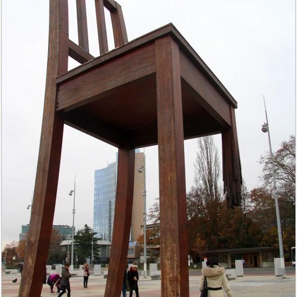 La silla rota de Ginebra