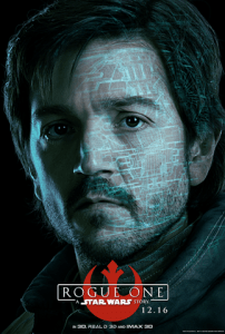 Diego Luna as Captain Cassian Andor in Rogue One a Star Wars story