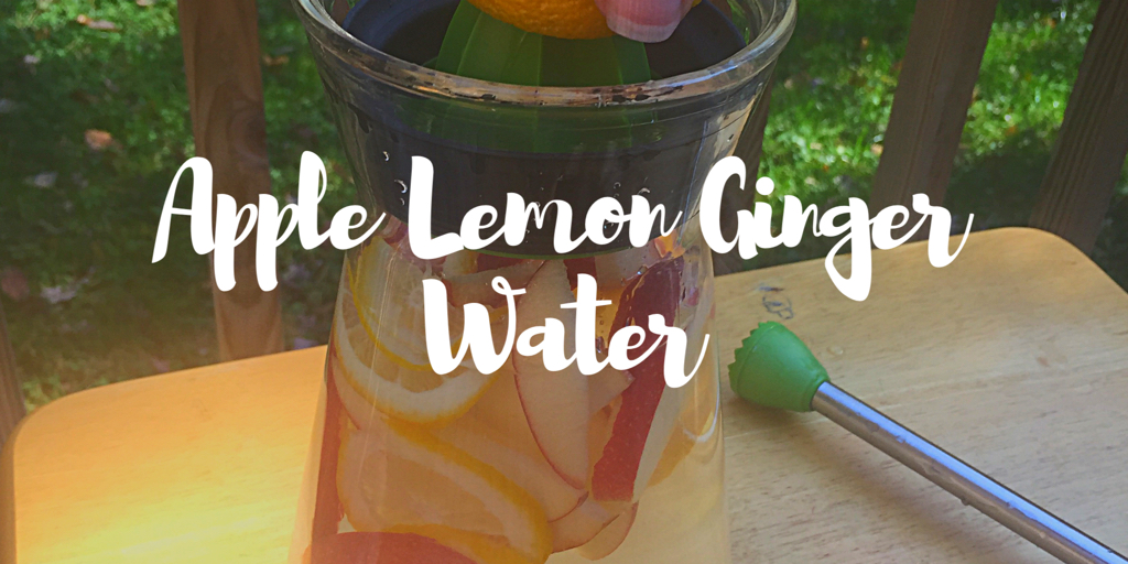 Apple Lemon Ginger Infused Water