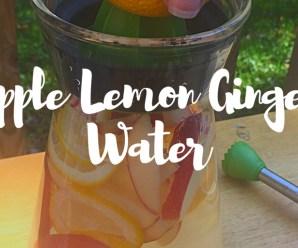 apple lemon ginger infused detox water recipe.