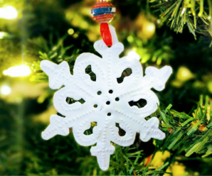 heart of haiti snowflake ornament