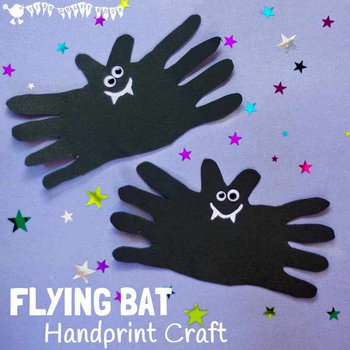 Halloween Bat Handprint Craft